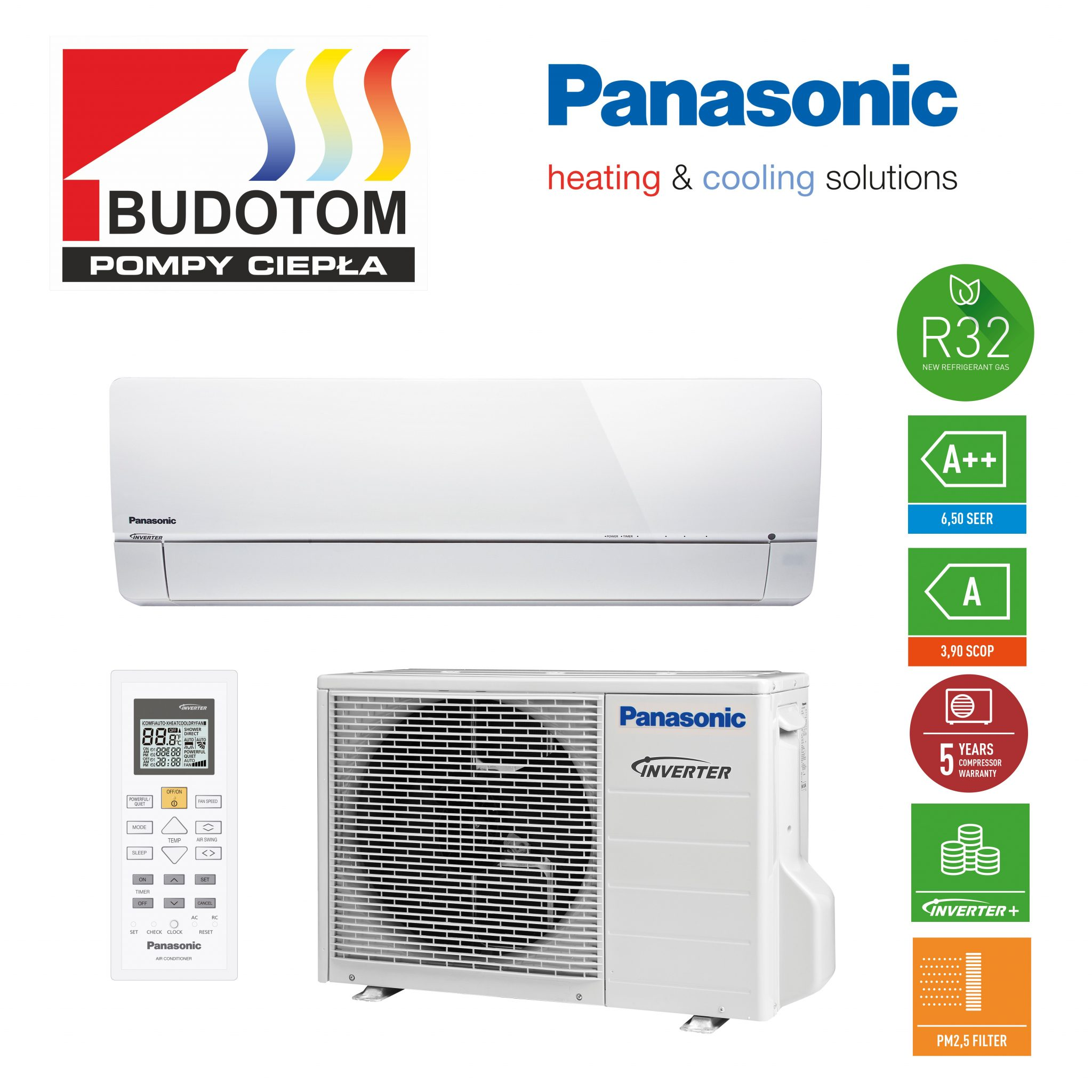 Klimatizace Panasonic KIT-UZ18-SKE 5,0 kW chladivo R32
