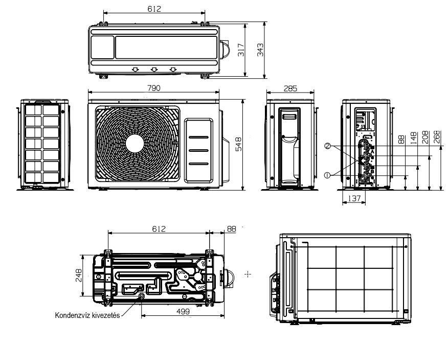 Samsung venkovní multisplitová jednotka 8 kW, R32, AJ080RCJ4EG/EU