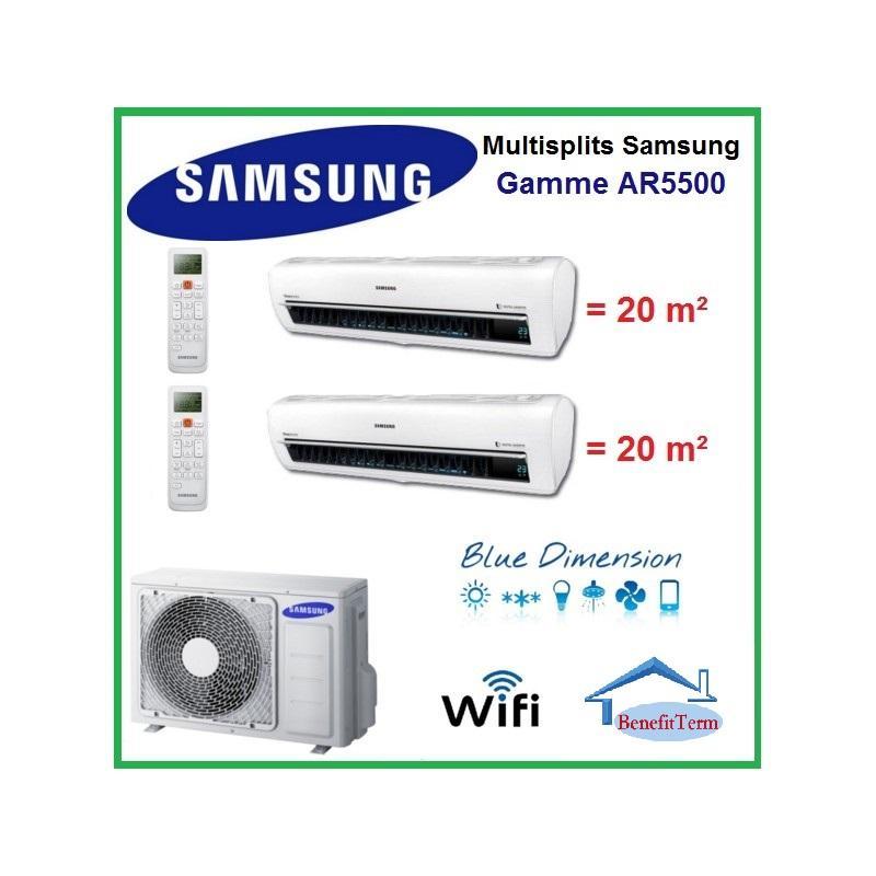 Multisplit Samsung AJ040MCJ2EH/EU +2ks. vnitřní jednotky AR5500 AR09NXWSAURNEU