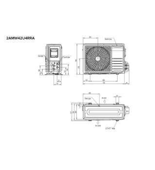 Hisense Multisplit venkovní jednotka 2AMW42U4RRA  4,2 kW  R32